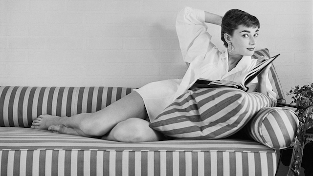 Audrey at Home on a Sun Lounger, 1954, Mark Shaw